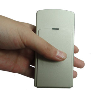 phone tracker jammer harmonica - Mini Portable Triple Frequency GPS Jammer With Built-in Antenna + Light Brown (GPS L1/L2/L5)