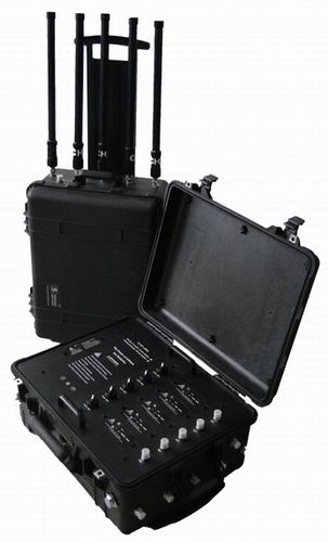 mobile frequency jammer half - 80W High Power Wireless Anti-explosion Jammer