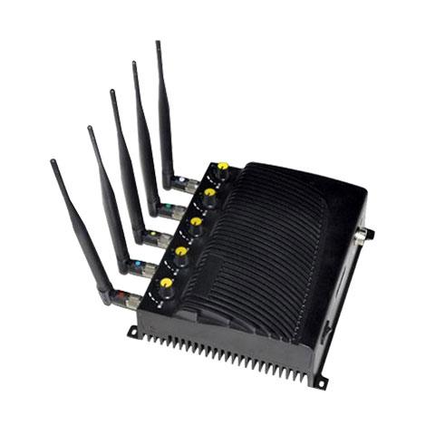 phone data jammer parts - Adjustable Cell phone WIFI GPS jammer-EU