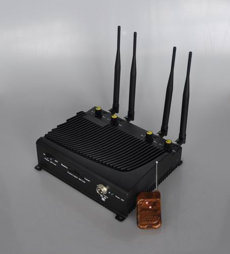 phone gsm jammer restaurant - Adjustable 4 Band Desktop Mobile Phone Jammer with Remote Control