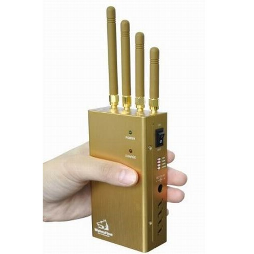 Handheld GPS Jammer GPS L1/L2/L5 Signal Jammer and Lojack Jammer with Selectable Switch