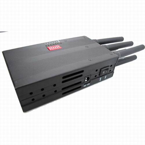 12 Antennas Signal Scrambler - Selectable Portable 3G Phone LoJack GPS Jammer with High Capacity Battery