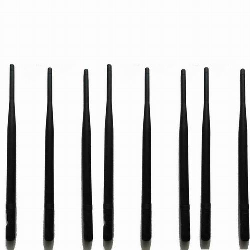 12 Bands RF Radio Jammer - 8pcs Replacement Antennas for Signal Jammer