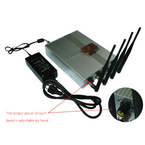 Cell Scrambler wholesale home - Power Adjustable Remote Control Mobile Phone Jammer + 60 Meters