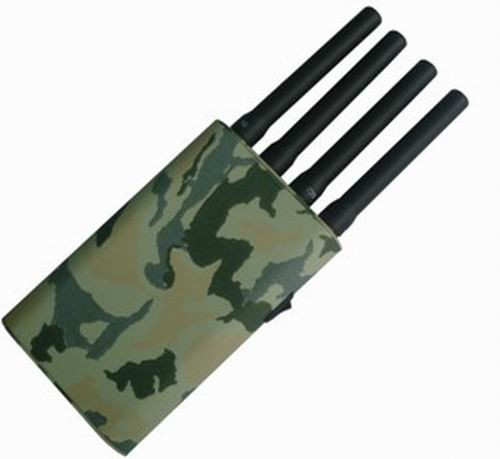 8 Bands 433MHz Jammer - Portable Mobile Phone & GPS Jammer with Camouflage Cover