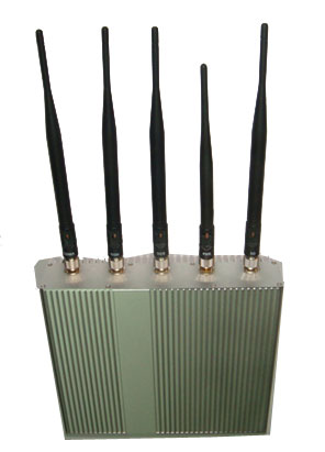 phone jammer us journalist - 5 Antenna Cell Phone jammer+ Remote Control (3G, GSM, CDMA, DCS)