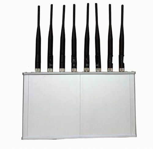 5 Antennas 390Mhz Jammer - High Power 8 Antennas 16W 3G 4G Mobile phone WiFi Jammer with Cooling Fan