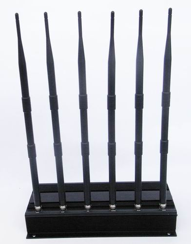 10 Antennas Cell Phone Blocker - High Power 6 Antenna Cell Phone,GPS,WiFi,VHF,UHF Jammer