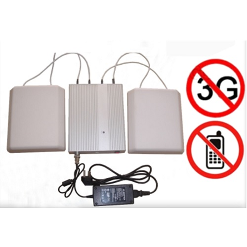 phone bug jammer security - 5 Band Cellphone WIFI signal Jammer with Remote Control+Directional Antennas