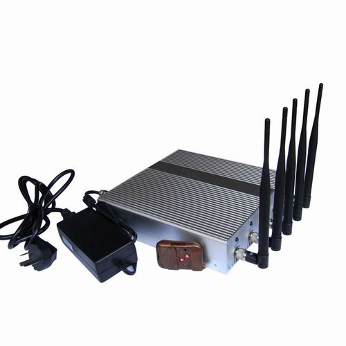 Car signal jammer - 5 Band Cellphone GPS signal Jammer with Remote Control
