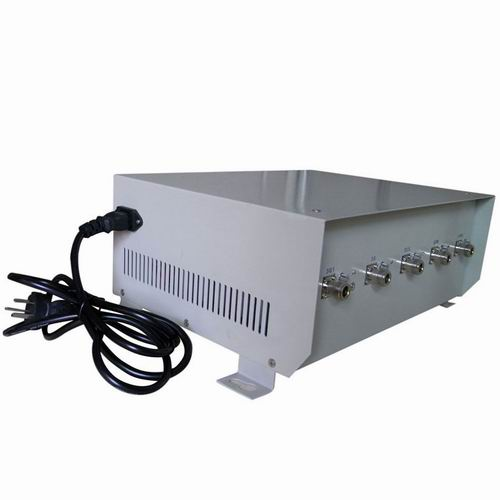 14 Antennas 2G Jammer - 75W High Power Cell Phone Jammer for 4G Wimax with Omni- directional Antenna