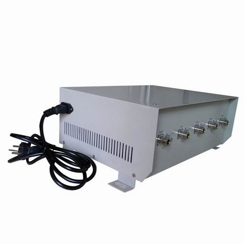 Broad spectrum mobile phone signal jammer - 75W High Power Cell Phone Jammer for 4G Wimax with Directional Antenna