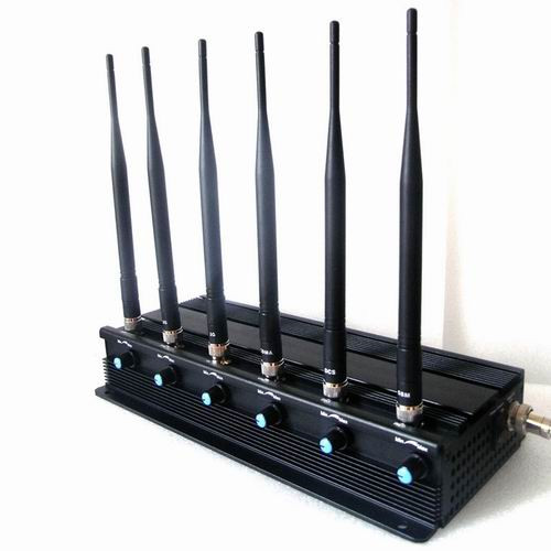 talk cell phones - Adjustable 15W High Power 6 Antenna Cell Phone,3G,GPS L1,L2,L5 Jammer