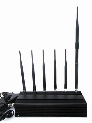 Adjustable cell phone signal Jammer - 6 Antenna 3G 4G Cell phone & Lojack Jammer