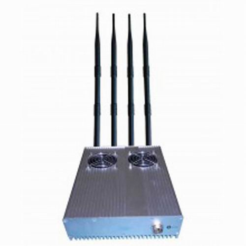 Mobile phone jammer Warren , 20W Powerful Desktop GPS 3G Mobile Phone Jammer with Outer Detachable Power Supply