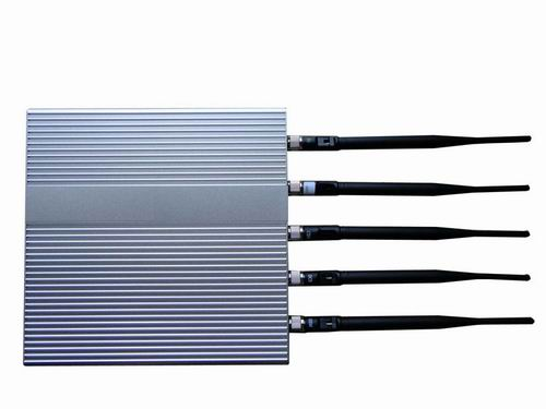 phone jammer uk blue - 5 Antenna Cell Phone jammer(3G,GSM,CDMA,DCS,PHS)