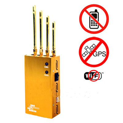 phone bug jammer factory - Powerful Golden Portable Cell phone & Wi-Fi & GPS Jammer