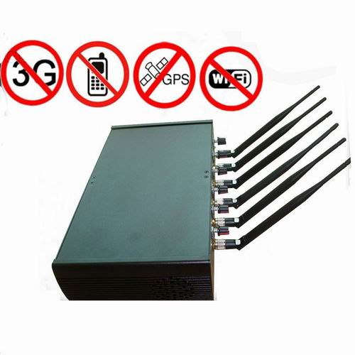 phone data jammer network - Adjustable High Power 6 Antenna WiFi & GPS & Cell Phone Jammer